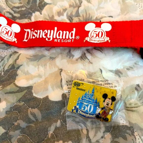Disneyland 50th Anniversary Lanyard